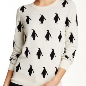 French Connection Cotton Penguin Sweater S
